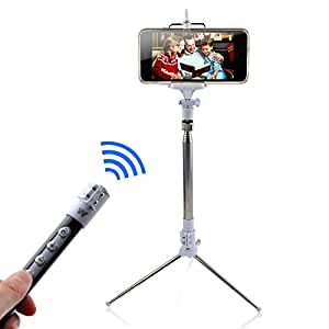 5ive selfie stick monopod pole with tripod stand built in blueto. Black Bedroom Furniture Sets. Home Design Ideas