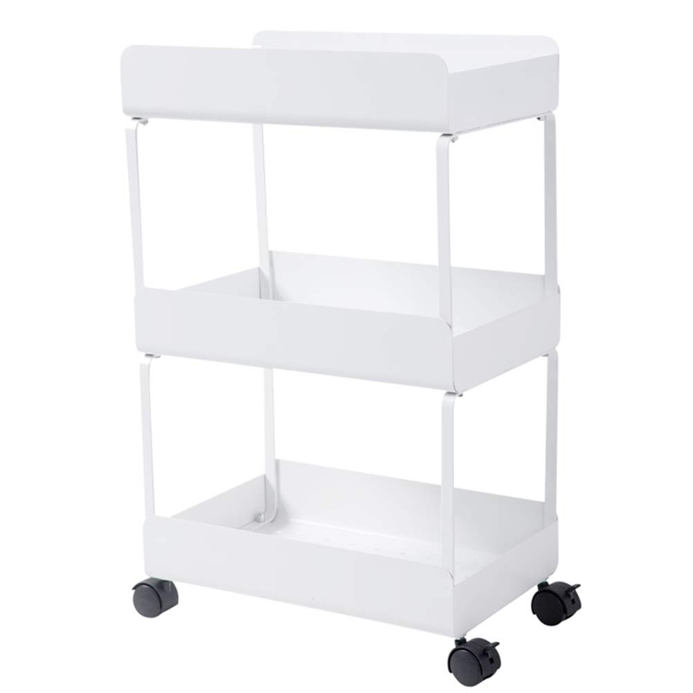 Multi-Functional Removable Rack, Kitchen Clip Storage Rack Trolley 360° Free Rotation, Suitable for Living Room Bedroom Bathroom (3 Layers 4 Layers) by Kitchen shelf