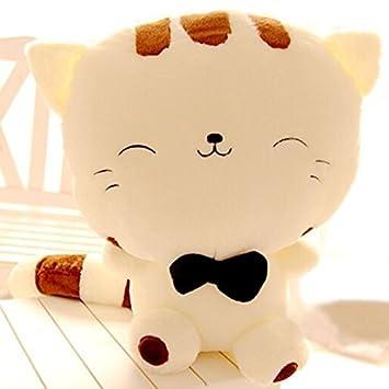 Amazon.com: 17.7 inch lindo gato grande cara Pusheen Kawaii ...