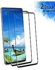 Panzerglas für Samsung Galaxy S10 Schutzfolie, 9H Härte HD Panzerglasfolie, Anti-Kratzen Blasenfrei Fingerabdruck-ID Folie, 3D Vollständige Abdeckung Displayschutzfolie für Galaxy S10 [2 Stück]