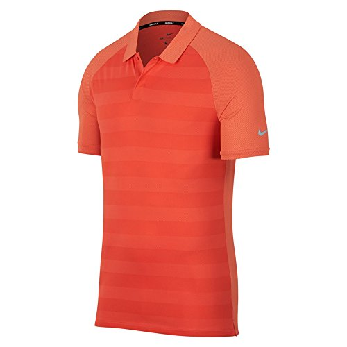 Nike Zonal Cooling Stripe OLC Golf Polo 2018 Rush Coral/Team Orange/Flat Silver X-Large