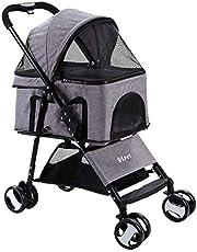 i.Pet 4 Wheels Pet Dog Cat Stroller Carrier