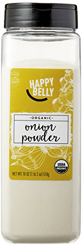 Amazon Brand - Happy Belly Organic Onion Powder, 18-Ounce