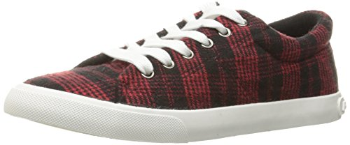 Rocket Dog Women's Campo Altan Cotton Fashion Sneaker, Red, 7.5 M (Plaid Shoes)