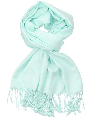 - NYFASHION101 Women's Fabulous Plus Size Soft Pashmina Viscose Scarf Shawl Wrap, Aqua Sky #30