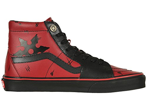 Vans Unisex X Marvel SK8-Hi Skate Shoes (11 Women / 9.5 Men M US, Deadpool Black) by Vans (Image #7)