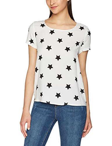 Donna Ss Aop Aop Camicia Dancer Mix cloud w Noos Top Stars Only black Multicolore Wvn Onlfirst 7nx8w5q8Up