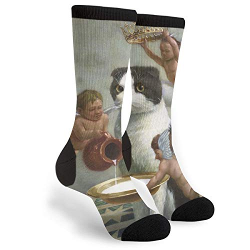 Angel Baby Ragdoll Cat Art Character Funny Youth Male Mens Boys Teen Kid Unisex Ankle Themed Clothing Gifts Party Clothes Dresses Quarter Dress Mid Calf Knee Crew Socks Calf Knit Hosiery]()