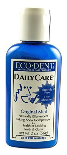 Eco-Dent Daily Care Baking Powder Toothpowder, Original Mint, 2 oz (56 g) 2-pack by Eco-Dent