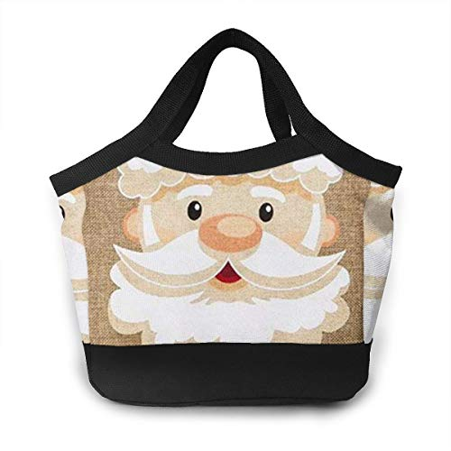 (JHNDKJS Peppermint Santa Happy Lunch Bag Insulated Lunch Box Cooler Bag for Women Men Adults Work)