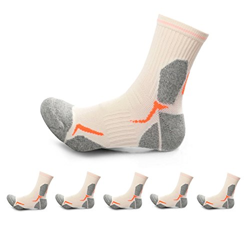 5 smell Hiking Antibacterial Professional Socks Pairs Outdoors Cushion 12 Size Anti 6 wvwHEq4