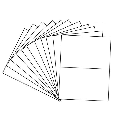 (Shipping Label with Self Adhesive, Labels for Laser or Inkjet, Pack of 50, White Shipping Labels, Blank ... (50))