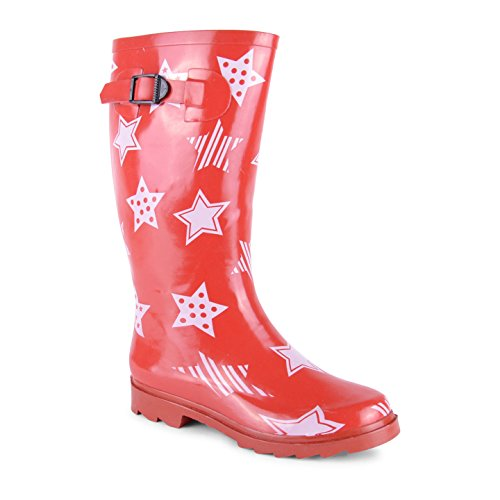 Footwear Sensation - Botas de agua de sintético mujer Red Stars