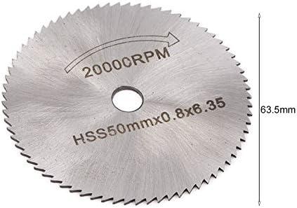 7 UNIDS HSS Hoja de sierra circular Discos de corte de madera Herramienta de cuchillas rotativas Herramienta de corte de metal port/átil Herramienta de alimentaci/ón para Dremel