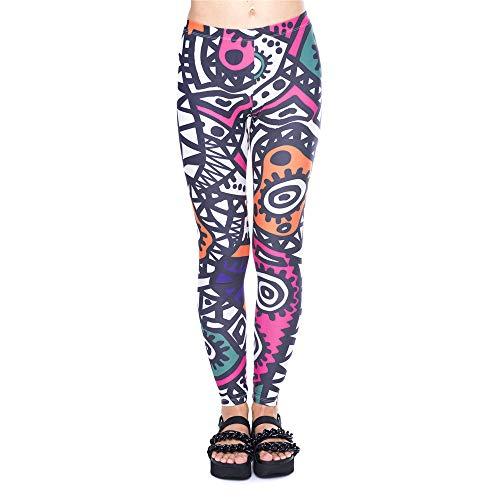 pantaloni elasticit Pantaloni monopezzo stretch alta ad 3D Lybtrouser stampati da donna qwvTtat