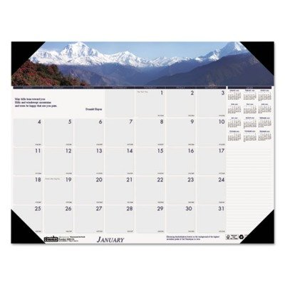 """UPC 040983176033, House of Doolittle Earthscapes Photographic Monthly Desk Pad Calendar, Coastlines, January-December, 2013, 22"""" x 17"""""""