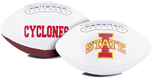 - Jarden 1 Pc, Iowa State Cyclones Football Full Size Embroidered Signature Series, Embroidered Primary Logo & Embossed Team History, Autograph Pen Included, For Autograph Shows & Game Day Events