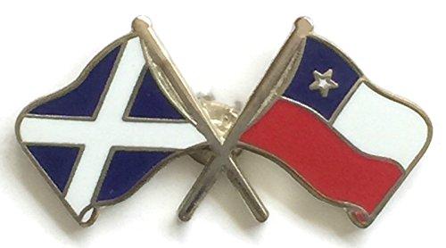 Écosse & drapeaux Chili d'amitié avec Pin's (épinglette Badge en émail