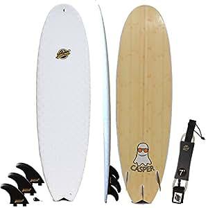 Gold Coast Surfboards Hybrid Soft Top Surfboard | 6'8 Casper Surf Board | Fun High Performance Surf Boards