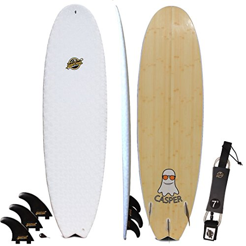 Gold Coast Surfboards Hybrid Soft Top Surfboard | 6'8 Casper Surf Board | Fun High Performance Surf Boards
