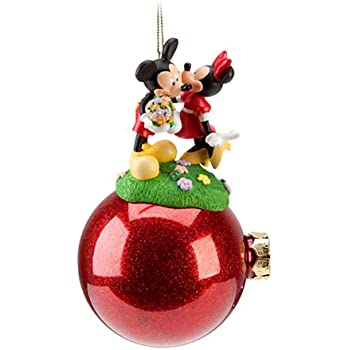 disney celebration minnie and mickey mouse ornament - Mickey And Minnie Christmas Decorations