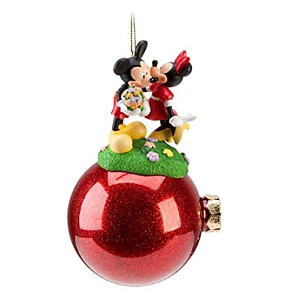 disney celebration minnie and mickey mouse ornament