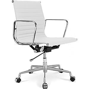 Silla de oficina aluminium group ea 117 inspirada por eames cuero de imitaci n ruedas - Silla eames amazon ...