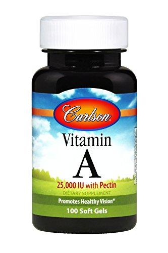 Carlson Vitamin A with Pectin 25000 IU Vision Skin Health