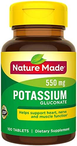 Vitamins & Supplements: Nature Made Potassium Gluconate