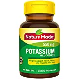Nature Made Potassium Gluconate 550 mg Tablets 3 Pack