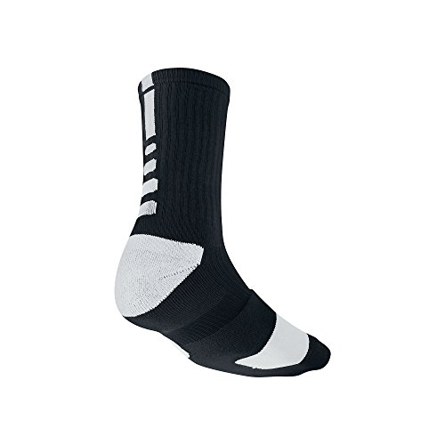 Nike Elite Cushioned Crew Basketball Socks - 1 Pair - Medium - Mens 6-8 or Womens 6-10 Size Black