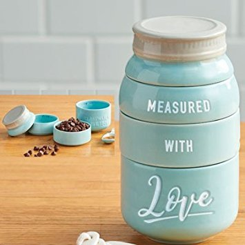 Stacking Jar Measuring Cups Measured with Love