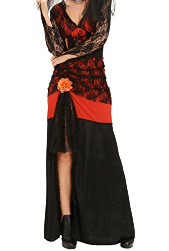 BYY Day of The Dead Diva Halloween Costume(Size,M) (Modest Teenage Halloween Costumes)