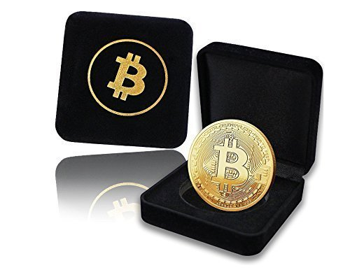 Bitcoin Coin with Showcase Box: Limited Edition Collectors Set | Physical Gold Coin with Crypto Coin Display Case | Cryptocurrency Coin With Realistic Details | Great Desk Home Gift Idea for HODL Fans (Bronze Limited Card Edition)