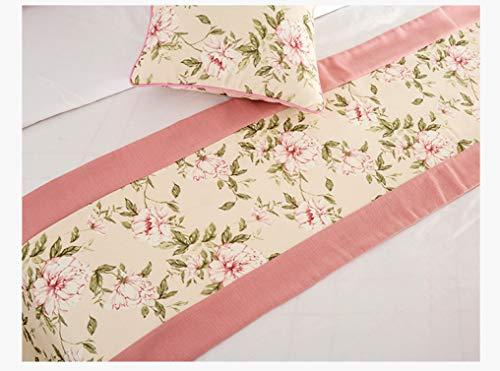 US-ROGEWIN Table Runners Multi-Purpose Refined Elegant Classic Vintage Bed Flag Hotel Home Decorative Dust-Proof Cover -