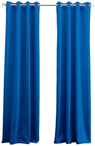 BrylaneHome Edison Blackout Grommet Curtain – 52I W 95I L, Blue