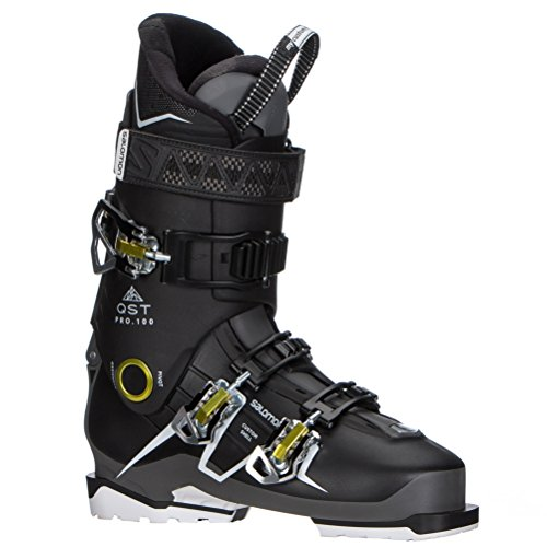 - Salomon QST Pro 100 Ski Boots 2018 - 29.5/Black-Anthracite-Acide Green