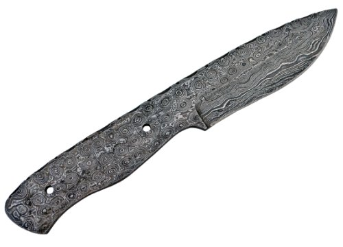 Damascus Large Tactical Knife Blank Blade Hunting Skinning Skinner Steel 1095HC