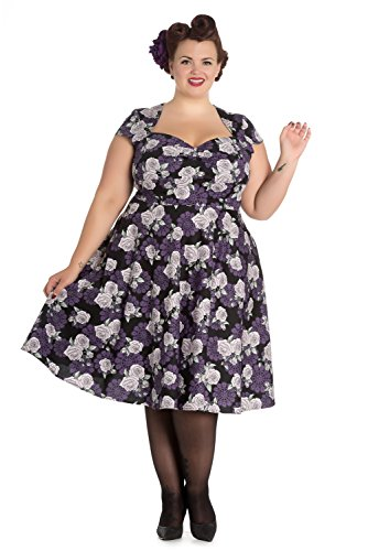 Hell-Bunny-Plus-Rockabilly-Love-Rose-and-Purple-Lace-Sweetheart-Party-Dress