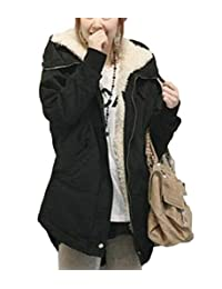 S-Fly Women Winter Thick Cotton Fleece Lined Hooded Anoraks Sherpa Parka Jacket