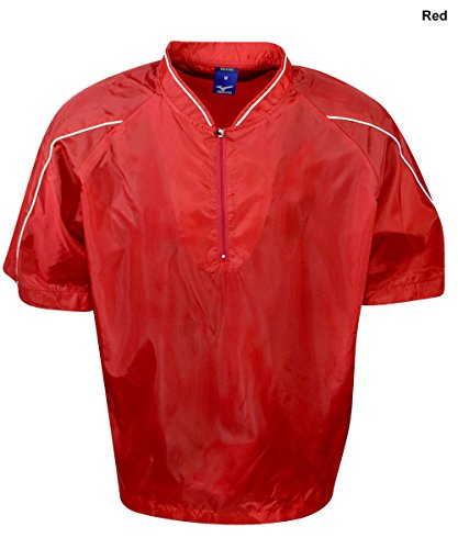 Mizuno G4 Premier Piped Short Sleeve Batting Jersey (Red, Small)