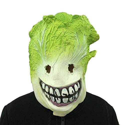 Cosplay Cabbage Monster Melting Face Latex Costume Collectible Prop Scary -