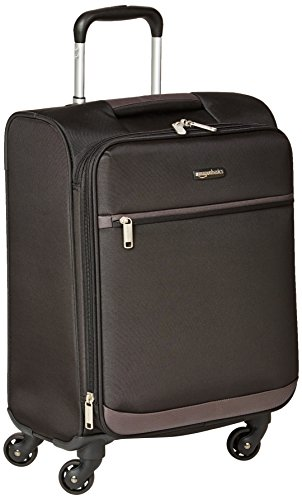 (AmazonBasics Softside Carry-On Spinner Luggage Suitcase - 21 Inch, Black)