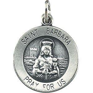 14K jaune 18,25St. Barbara Médaille