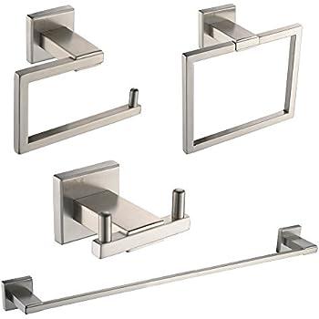 Amazon.com: 4-Piece Bathroom Hardware Accessory Set With