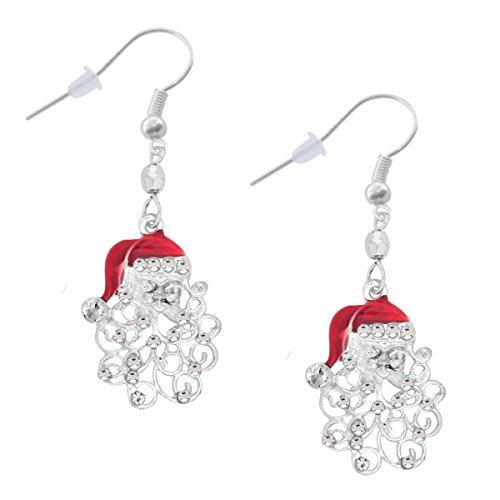 Santa Claus Dangle Crystal Earrings product image