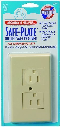 Mommys Helper Safe Plate Electrical Outlet Covers Standard, Almond (2-Pack)