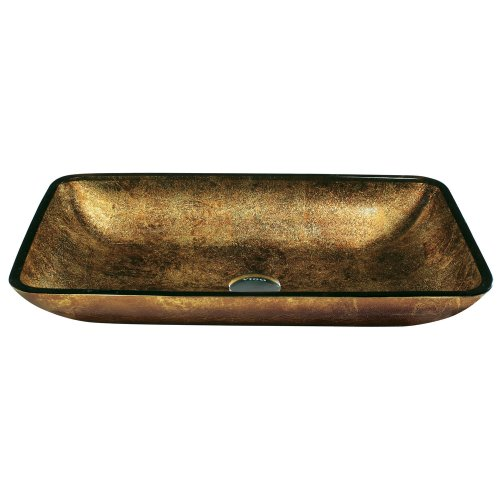 - VIGO Rectangular Copper Glass Vessel Bathroom Sink