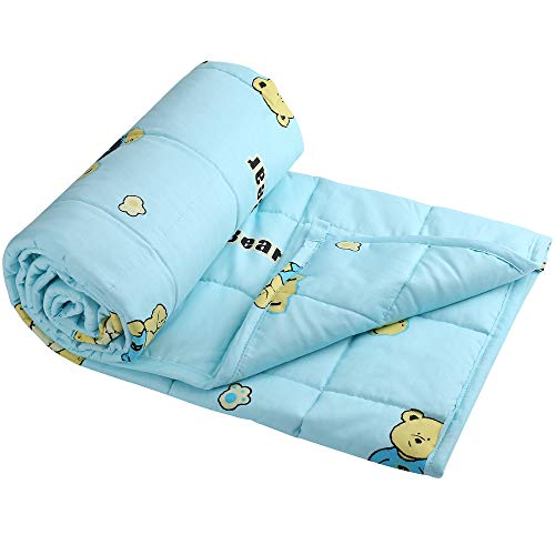 """Weighted Blanket for Kids, 5 lbs 36""""X48"""" Child Size, Soft Cooling Blanket, Heavy Blanket for Calm Sleeping, with Premium Glass Beads, Washable"""