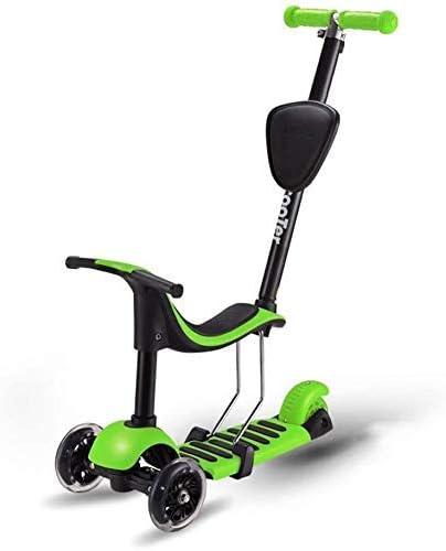 Equilibrador de niño for 2-6 años de edad chicos y chicas, regulable en altura y niño Scoot Con Flash ruedas, el equilibrio del coche 4-en-1, kick scooter de 3 ruedas y scooters Con desmontable plegab